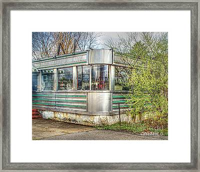 Lawrenceville Diner Framed Print by Louise Reeves