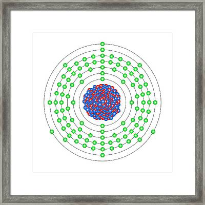 Lawrencium Framed Print by Science Photo Library