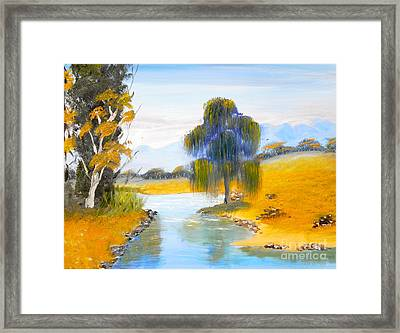 Framed Print featuring the painting Lawson River by Pamela  Meredith
