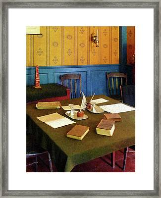 Lawyer - 19th Century Lawyer's Office Framed Print by Susan Savad