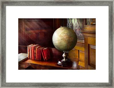 Lawyer - A World Traveler Framed Print by Mike Savad