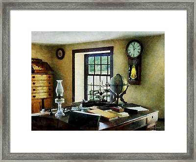 Lawyer - Globe Books And Lamps Framed Print by Susan Savad