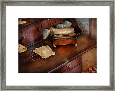 Lawyer - Important Documents  Framed Print by Mike Savad