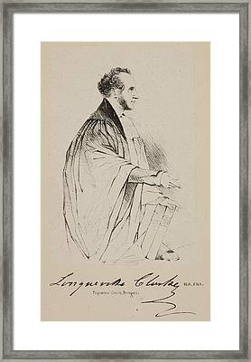 Lawyer In The Supreme Court At Calcutta Framed Print by British Library
