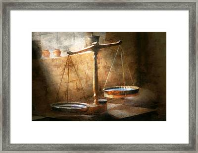 Lawyer - Scale - Balanced Law Framed Print by Mike Savad