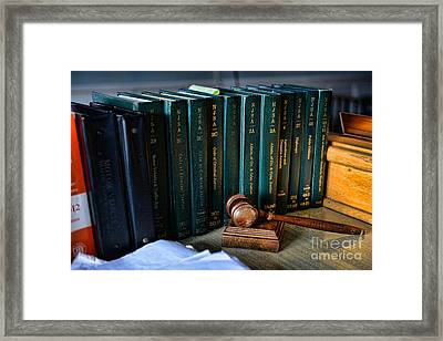 Lawyer - The Code Of Criminal Justice Framed Print by Paul Ward