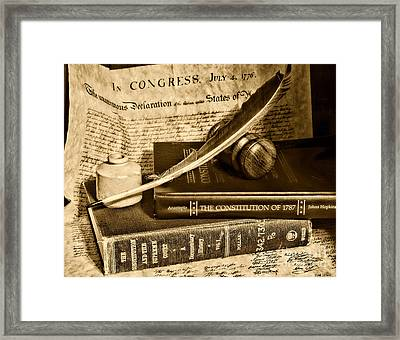 Lawyer - The Constitutional Lawyer In Black And White Framed Print