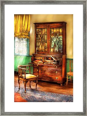 Lawyer - The Lawyers Study Framed Print by Mike Savad