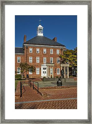 Lawyers Mall Framed Print by Susan Candelario