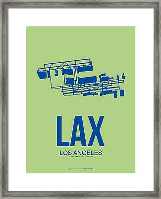 Lax Airport Poster 1 Framed Print by Naxart Studio