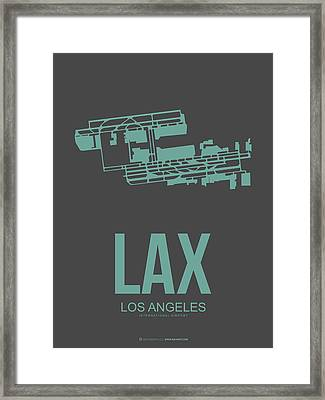 Lax Airport Poster 2 Framed Print by Naxart Studio