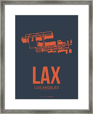 Lax Airport Poster 3 Framed Print by Naxart Studio