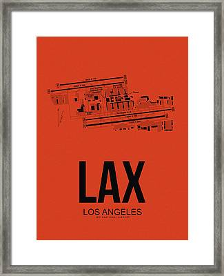 Lax Los Angeles Airport Poster 4 Framed Print by Naxart Studio