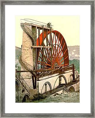 Laxey Wheel 1890 Framed Print