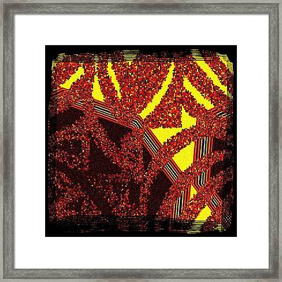Layered Abstract   Framed Print