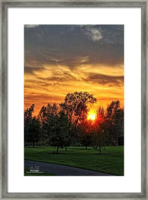 Layered Contrast Framed Print by Dan Quam