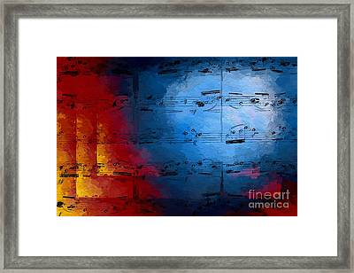 Framed Print featuring the digital art Layered Hot And Cold by Lon Chaffin