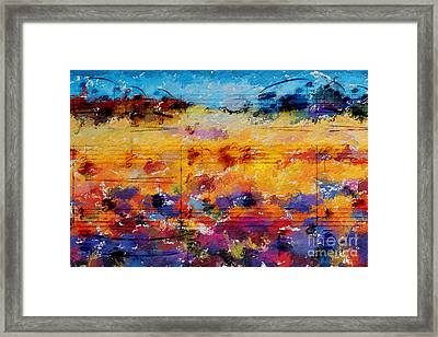 Framed Print featuring the digital art Layered Jelly Bean Lemonade by Lon Chaffin
