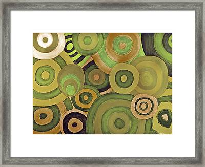 Layered Rings Framed Print by Kjirsten Collier