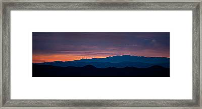 Layers - The Mojave I Framed Print by Peter Tellone
