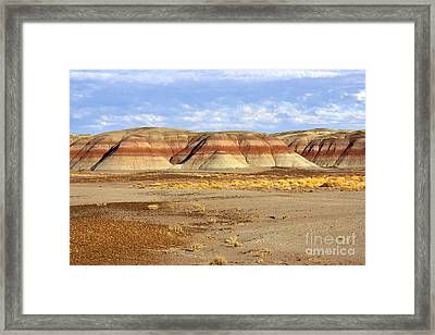 Layers And Landform - The Painted Desert Framed Print by Douglas Taylor