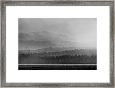 Layers Framed Print by Darryl Luscombe