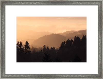 Layers Framed Print by Katie Wing Vigil