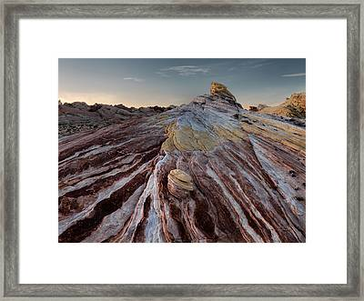 Layers Framed Print by Leland D Howard