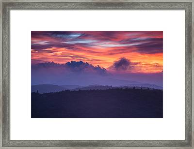 Layers Of Cloud And Land Framed Print by Rob Travis