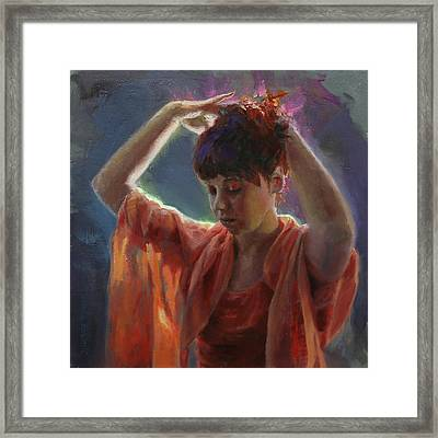 Layers Of Light - Self Portrait Framed Print by Karen Whitworth