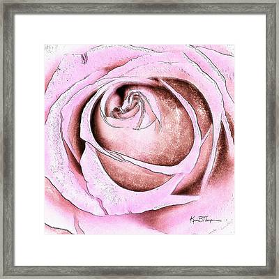 Layers Of Love Framed Print by Kim Thompson