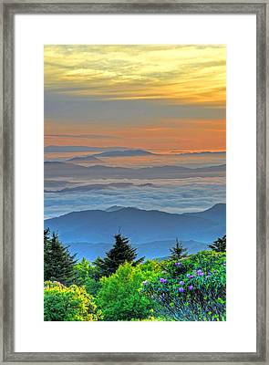 Layers Of Sunrise Framed Print by Mary Anne Baker
