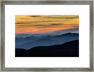 Layers Of The Blue Ridge Mountains Framed Print by Serge Skiba