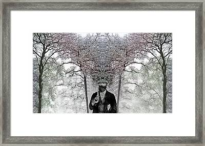 Layers Of Thought  C2014 Framed Print