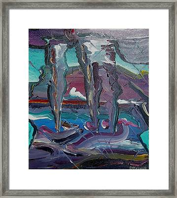 Layers Of Uncertainty Framed Print
