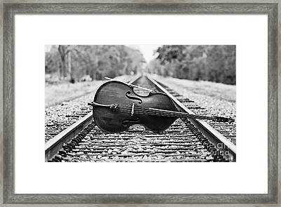 Laying Down Some Tracks Framed Print by Scott Pellegrin