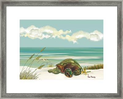 Laying Eggs Framed Print