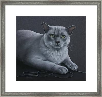 Framed Print featuring the pastel Layla by Cynthia House