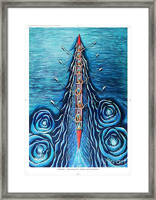 Blue Eight By O4rsom. Rowing Sport Of Champions Framed Print