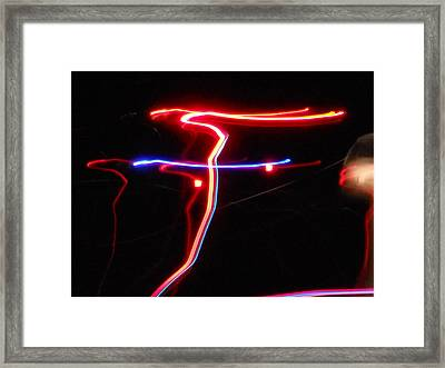 Lazer Fusion No.4 Framed Print by James Welch