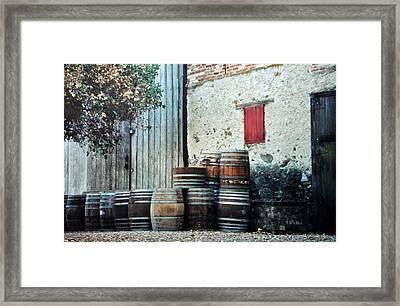 Framed Print featuring the photograph Lazy Afternoon At The Winery by Diane Alexander