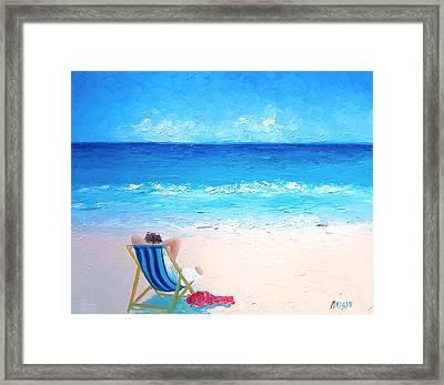 Lazy Beach Day Framed Print