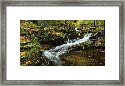 Lazy Cascade Framed Print
