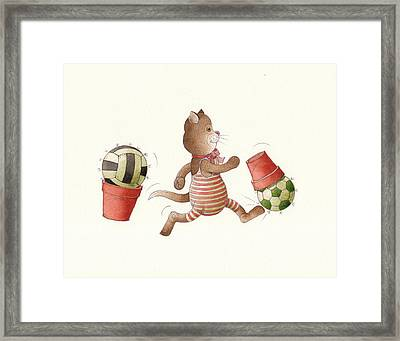 Lazy Cats01 Framed Print by Kestutis Kasparavicius