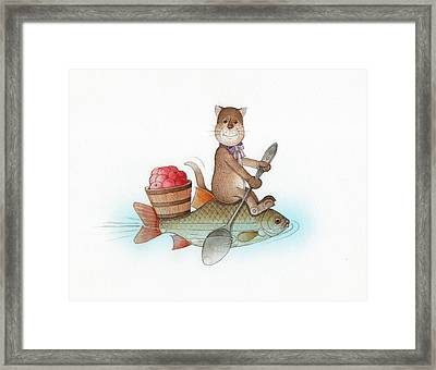 Lazy Cats05 Framed Print by Kestutis Kasparavicius