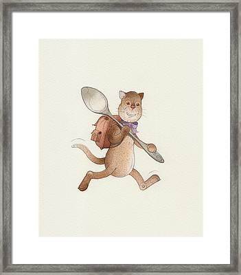Lazy Cats06 Framed Print by Kestutis Kasparavicius