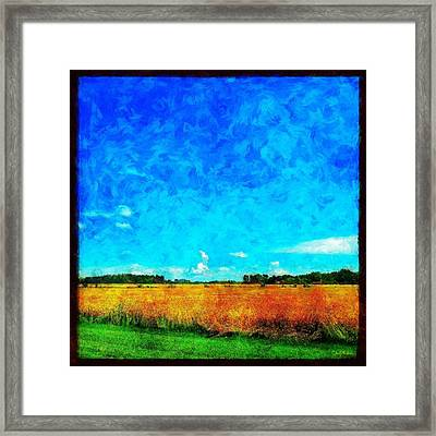 Lazy Clouds In The Summer Sun Framed Print