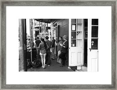 Lazy Day On Bourbon Street Mono Framed Print by John Rizzuto