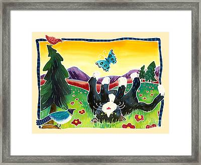 Lazy Kitty Framed Print by Harriet Peck Taylor