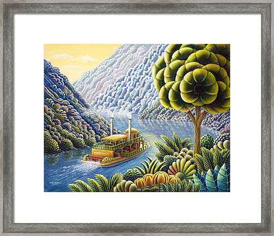 Lazy River Framed Print by Andy Russell